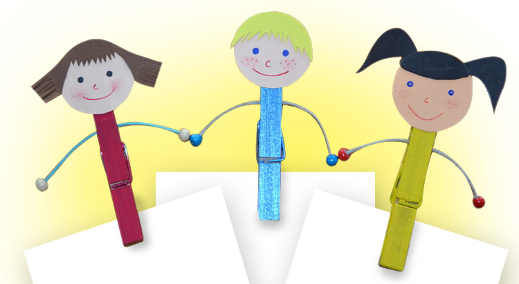 kolíčky s motivem dětí