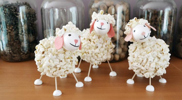 Popcornová ovečka - návod na výrobu