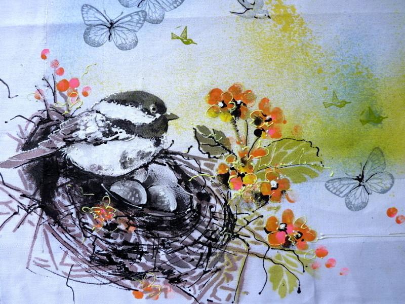 jarní prostírání - velký ptáček