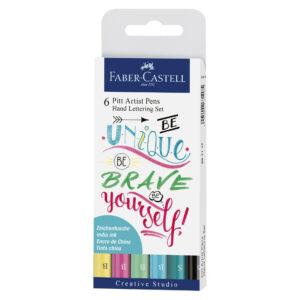Popisovače na krasopsaní pastelové barvy 6 kusů