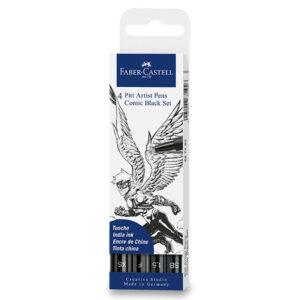 Sada obsahuje fix Pitt Artist Pen se štětcovým hrotem, 2 linery a popisovač