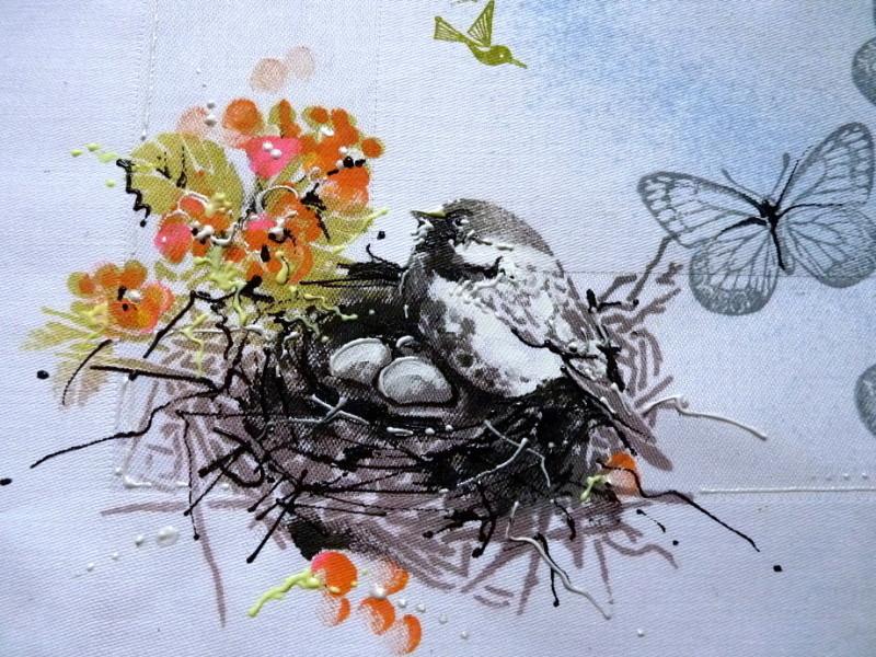jarní prostírání - malý ptáček