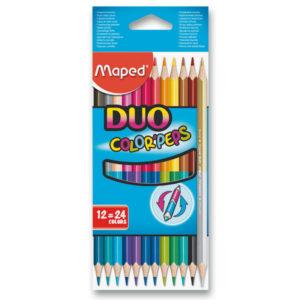 Oboustranné pastelky DUO Maped 24 barev do penálu
