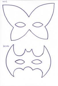 Škraboška motýl a batman