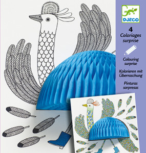 Omalovánky Djeco pták 3D