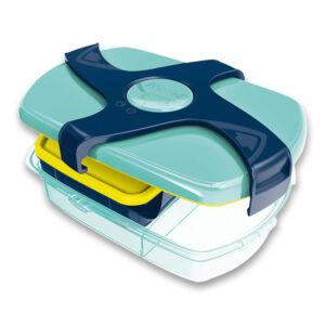 Svačinový box s otočnou fixací a dělicí přepážkou