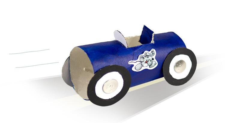 auto z wc ruličky