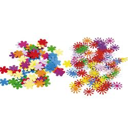 barevné konfety květiny