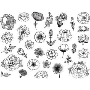 razítka květin