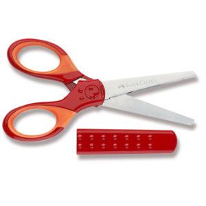 nůžky Faber-Castell pro začátečníky s krytem do penálu