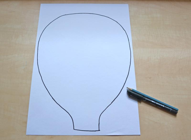 Nákres obrysu balonu