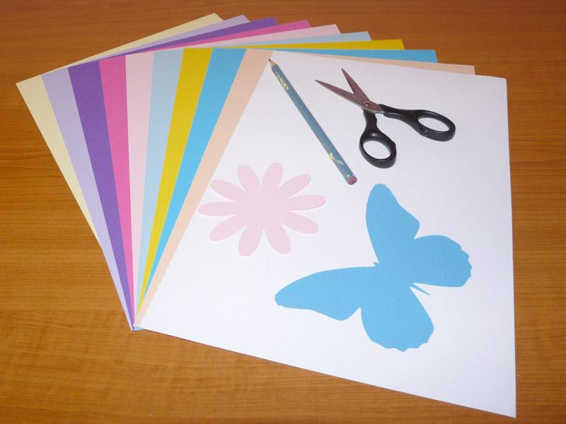 tvoření šablony květina a motýl