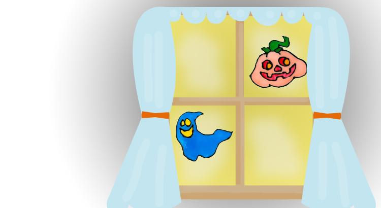 haloweenská okna