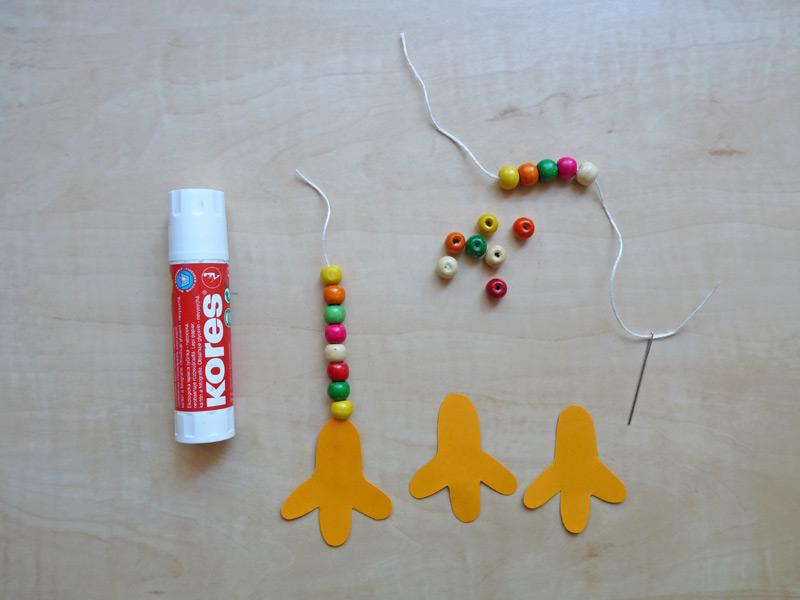 tvoření ptačích nohou