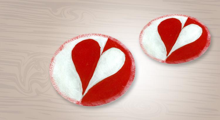 valentýnské podtácky