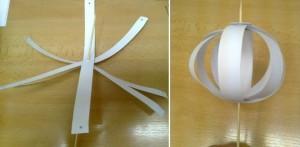 tělíčko z papírových proužků