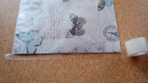 oblepování fólie a balicího papíru
