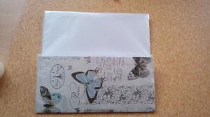 taštička z balicího papíru a fólie