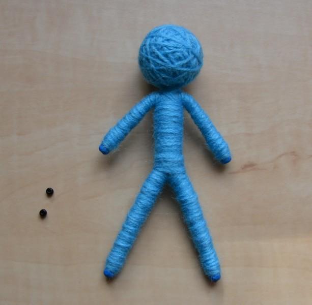 panenka z vlny - hotové tělíčko