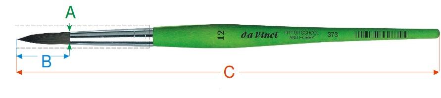Kulatý štětec Fit for hobby značky da Vinci