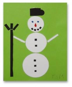 přáníčko se sněhulákem