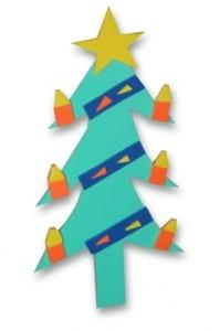 vánoční stromeček se svíčkami