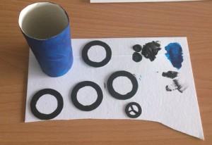 natření ruličky barvou