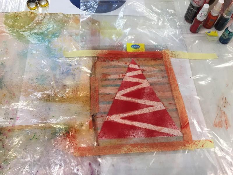 krok 3 nanášení barvy