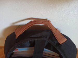 školní batoh Walker Pure černý ucho