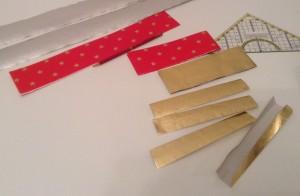 Nastřihané pásky a jejich skládání