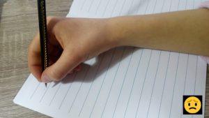 Špatné držení tužky