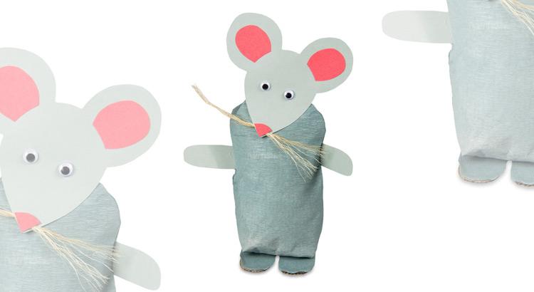 myš z papírového pytlíku