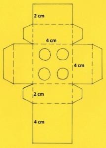 Šablona lego krabičky s rozměry