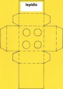 Šablona na lego krabičku