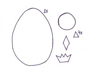 šablonka kuřátko