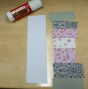 proužky z papíru a lepidlo