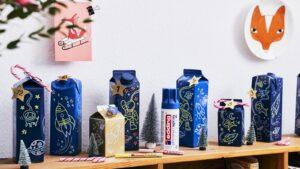 Adventní kalendář z nápojových kartonů