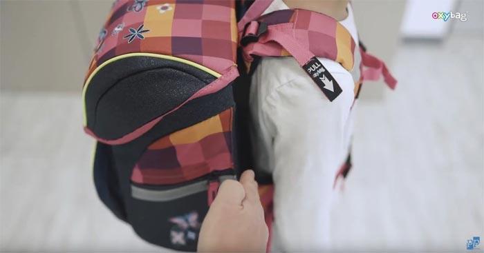 Velikost mezery mezi zády dítěte a aktovkou