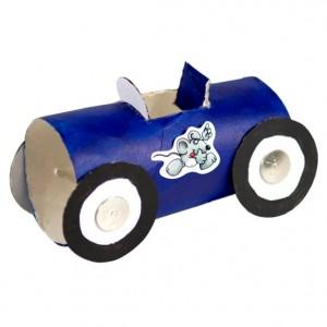 Autíčka z ruliček od toaleťáku – návod na výrobu