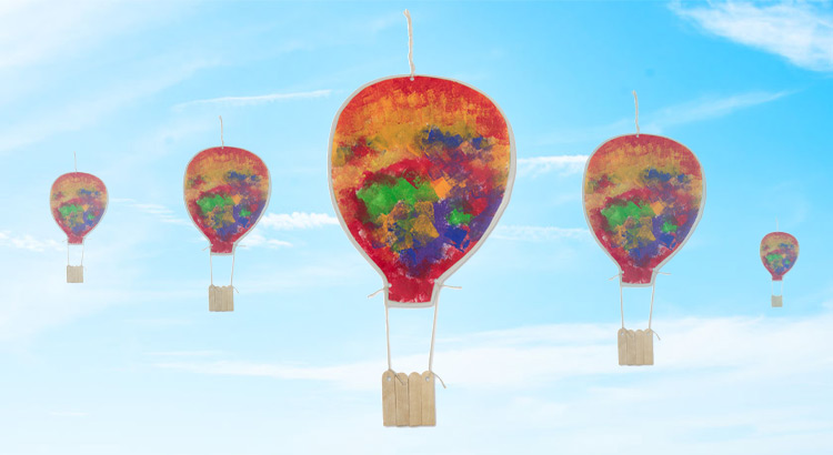 létající balón z papíru