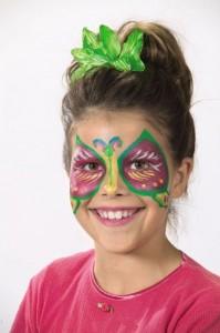 Obličejové barvy - motýlek