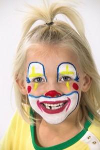 Obličejové barvy - klaun