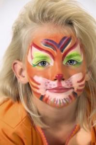 Obličejové barvy - lev