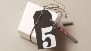 Uchycení číslic na adventní kalendář z krabiček