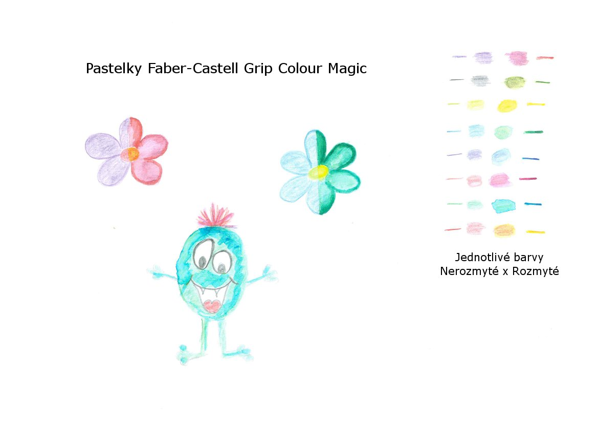 Test pastelek faber castell grip colour