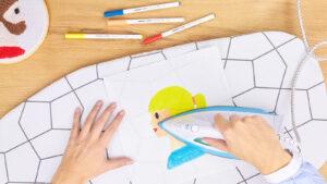 Zažehlování obrázku nakresleného popisovači na textil Edding