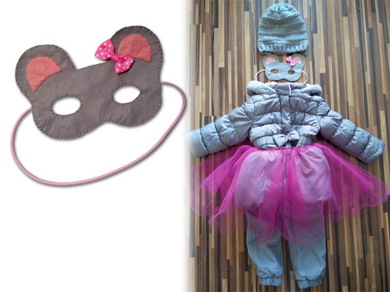 Maska pro děti myš - DIY