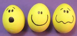 Vajíčka barvená fixem