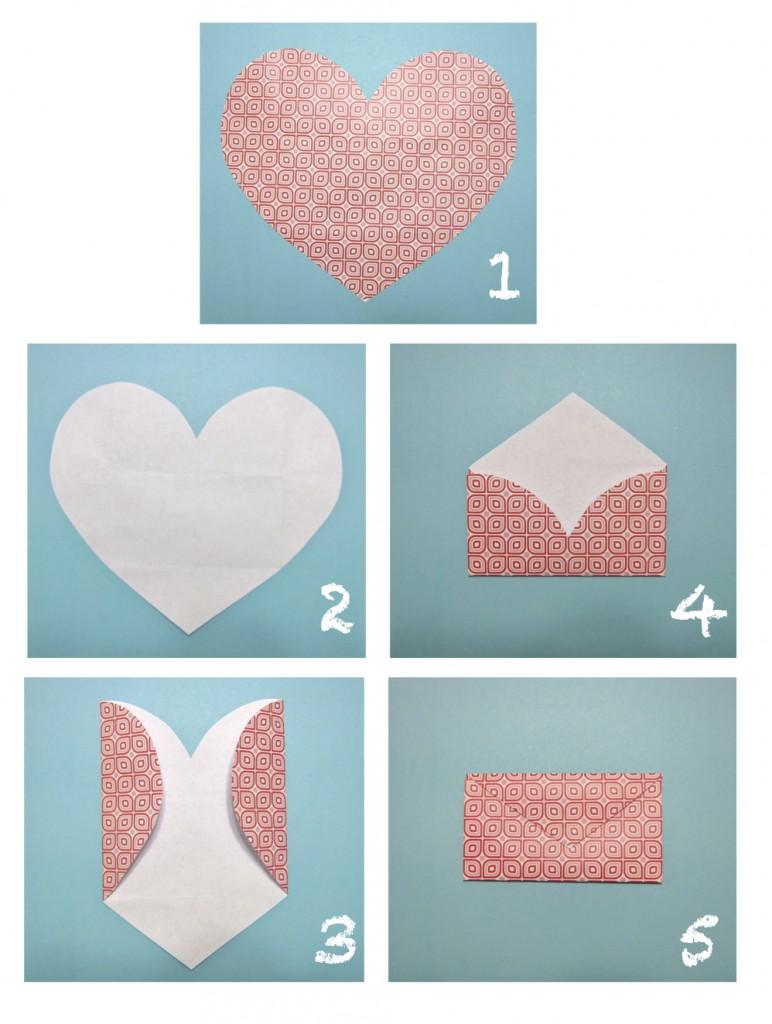 Jak vyrobit obálku - foto postup