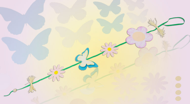 závěsná dekorace kyticky